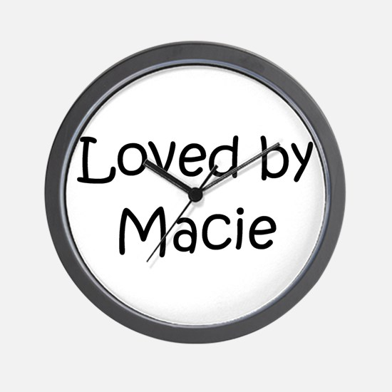 Cute Macie Wall Clock