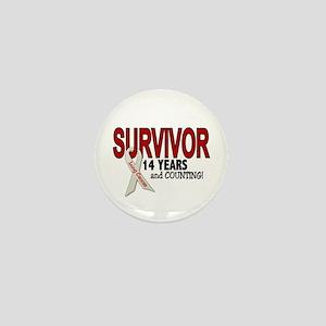 Lung Cancer Survivor 14 Years 1 Mini Button