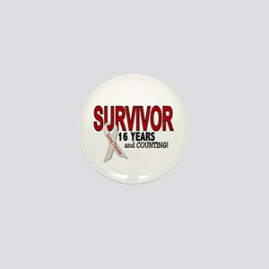 Lung Cancer Survivor 16 Years 1 Mini Button