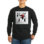 MUAY-THAI PANDA Long Sleeve Dark T-Shirt
