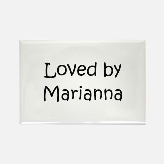 Cute Marianna Rectangle Magnet