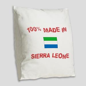 100 Percent Made In Sierra Leo Burlap Throw Pillow