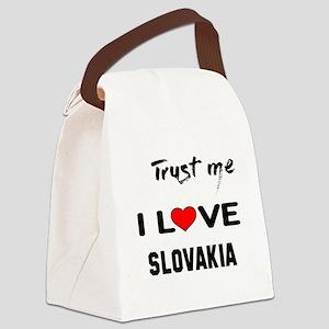 Trust me I Love Slovakia Canvas Lunch Bag
