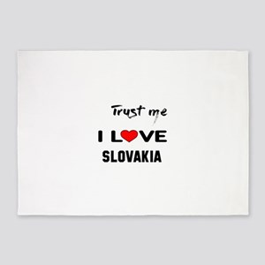 Trust me I Love Slovakia 5'x7'Area Rug