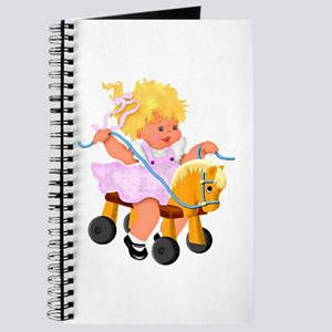 Little Girl Toy Horse Journal