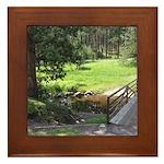 Grass Is Greener Bridge Framed Tile