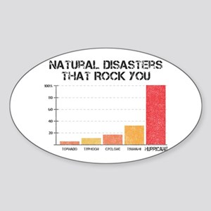 'Natural Disasters' Oval Sticker