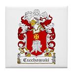 Czechowski Family Crest Tile Coaster