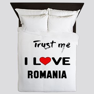 Trust me I Love Romania Queen Duvet