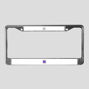 Trust me I Love Qatar License Plate Frame