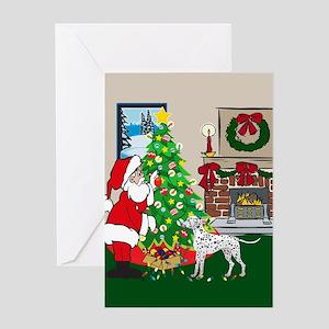 Deck The Halls Dalmatian Greeting Card