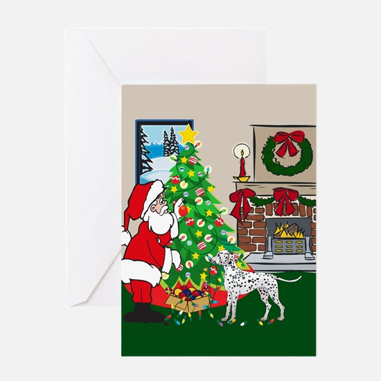 Deck The Halls Dalmatian Greeting Card