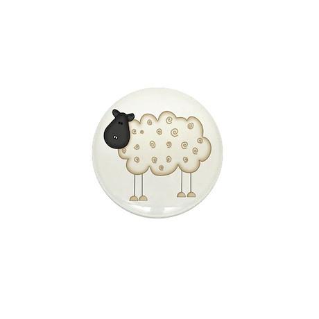 Stick Figure Sheep Mini Button (10 pack)