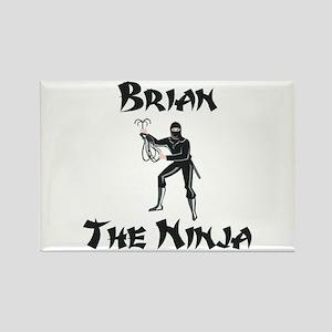 Brian - The Ninja Rectangle Magnet