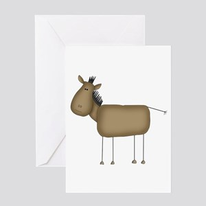 Stick Figure Horse Greeting Card