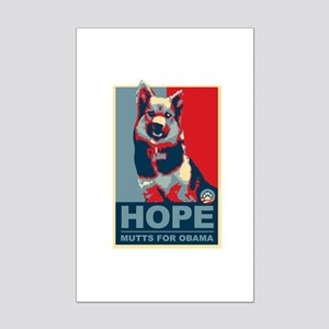 Hope Mutts for Obama, Shepard Mini Poster Print