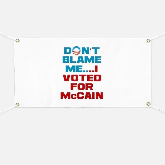 I Voted for McCain Banner