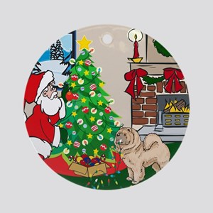 Deck The Halls Chow Chow Ornament (Round)
