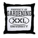 Gardening University Throw Pillow