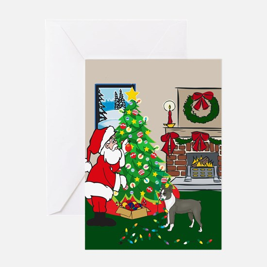 Deck The Halls Boston Terrier Greeting Card