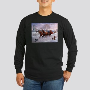 Sleigh Ride Long Sleeve Dark T-Shirt