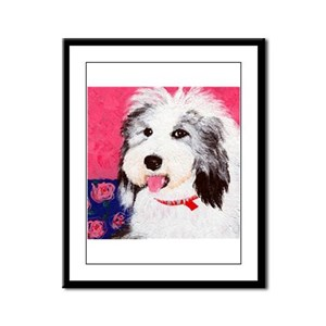 dog_oes_q01 Framed Panel Print
