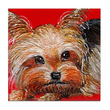 dog_yorkie_q01 Tile Coaster