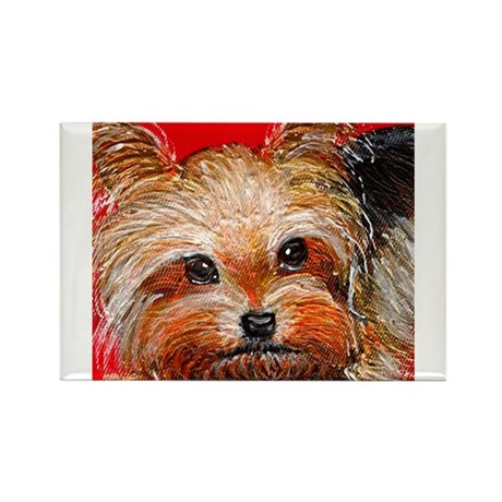 dog_yorkie_q01 Rectangle Magnet