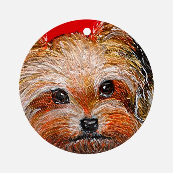 dog_yorkie_q01 Ornament (Round)