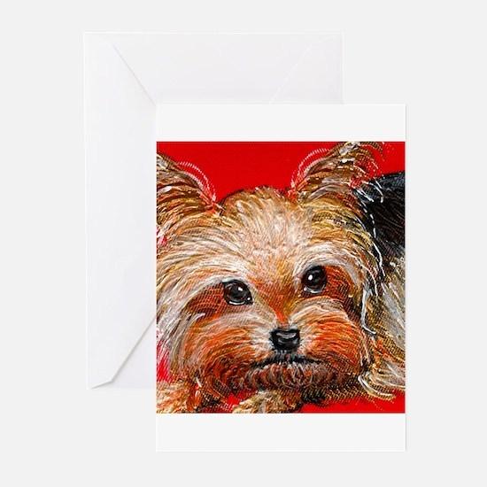 dog_yorkie_q01 Greeting Cards (Pk of 10)