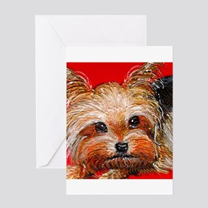 dog_yorkie_q01 Greeting Card