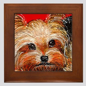 dog_yorkie_q01 Framed Tile