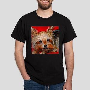 dog_yorkie_q01 Dark T-Shirt