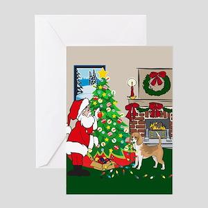 Deck The Halls Beagle Greeting Card