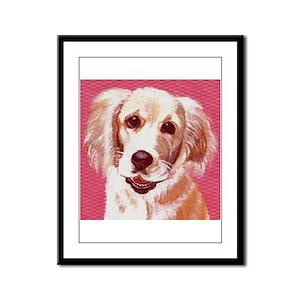 dog_retriev_q01 Framed Panel Print