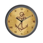 Classic Anchor Wall Clock