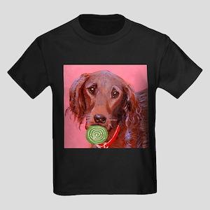 dog_setter_q01 Kids Dark T-Shirt