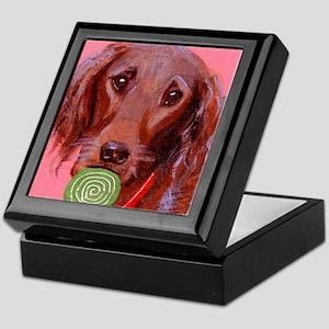 dog_setter_q01 Keepsake Box