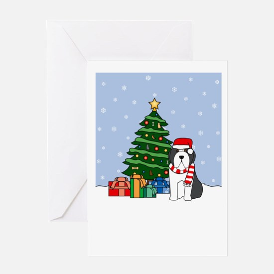 Beardie Howling Good Holiday Greeting Card