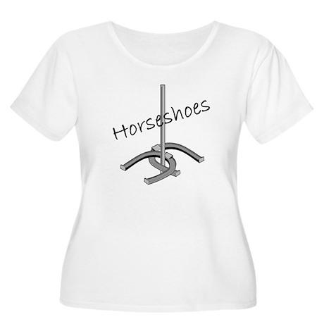 Horseshoes Women's Plus Size Scoop Neck T-Shirt