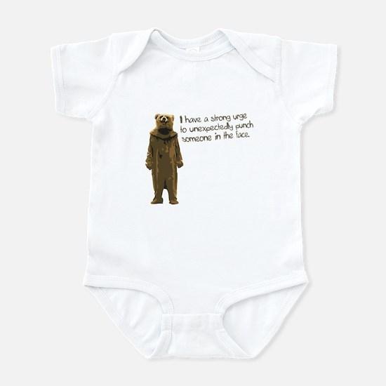 Wicker Man Bear Suit Punch Infant Bodysuit