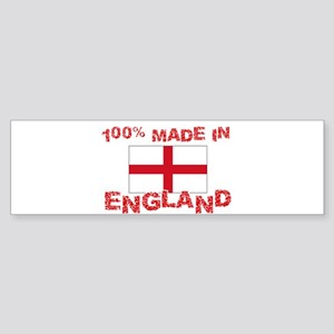 100 Percent Made In England Bumper Sticker