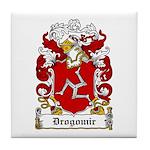 Drogomir Family Crest Tile Coaster
