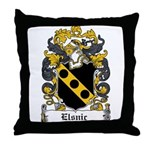 Elsnic Family Crest Throw Pillow