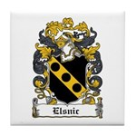 Elsnic Family Crest Tile Coaster
