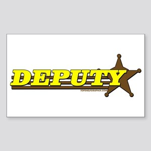 DEPUTY ~ YELLOW-BROWN Rectangle Sticker
