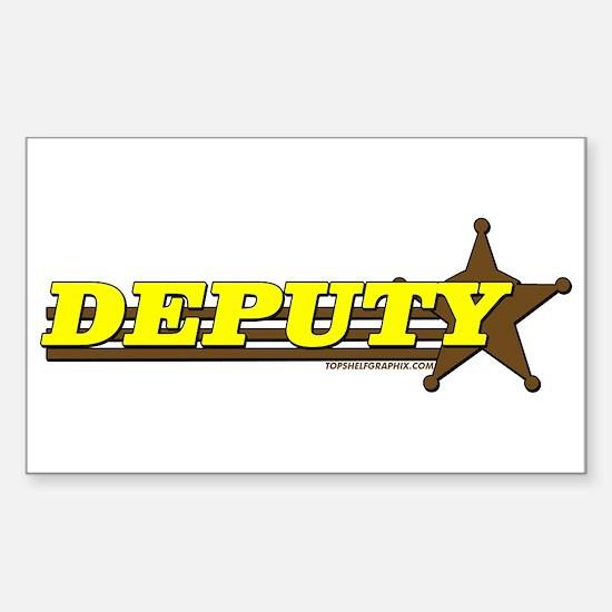 DEPUTY ~ YELLOW-BROWN Rectangle Decal
