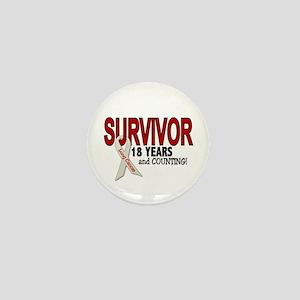 Lung Cancer Survivor 18 Years 1 Mini Button
