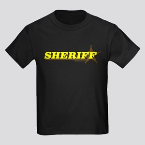 SHERIFF ~ YELLOW-BROWN Kids Dark T-Shirt