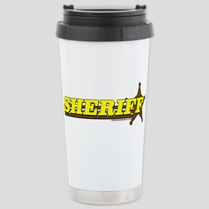 SHERIFF ~ YELLOW-BROWN Stainless Steel Travel Mug